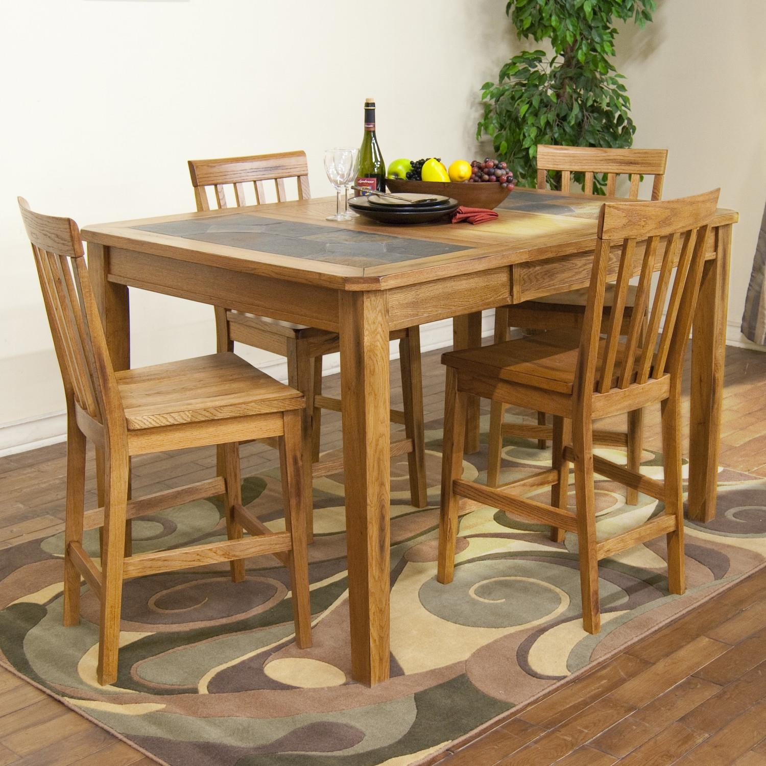 Slate Dining Room Table: Sunny Designs Sedona Counter Height Extension Table W