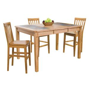 Sunny Designs Sedona Counter Height Table & 4 Barstools