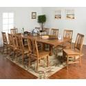 Sunny Designs Sedona 11-Piece Adj. Height Dining Table Set - Item Number: 1356RO+10x1498RO