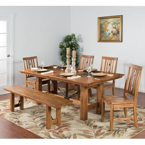 Sunny Designs Sedona 6-Piece Adj. Height Dining Table Set