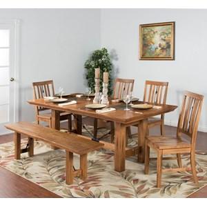 Sunny Designs Sedona 6-Piece Adj. Height Dining Table Set