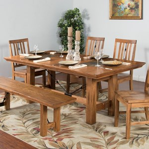Sunny Designs Sedona Dining Table w/ Butterfly Leaf