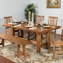 Sunny Designs Sedona Dining Table w/ Butterfly Leaf - Item Number: 1356RO