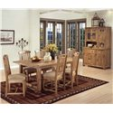 Sunny Designs Sedona Rustic Oak Slatback Side Chair - Shown as part of table set