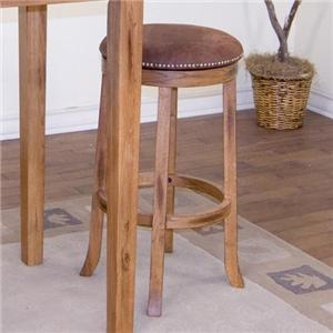 "Market Square Morris Home Wakefield 24"" Backless Swivel Barstool"