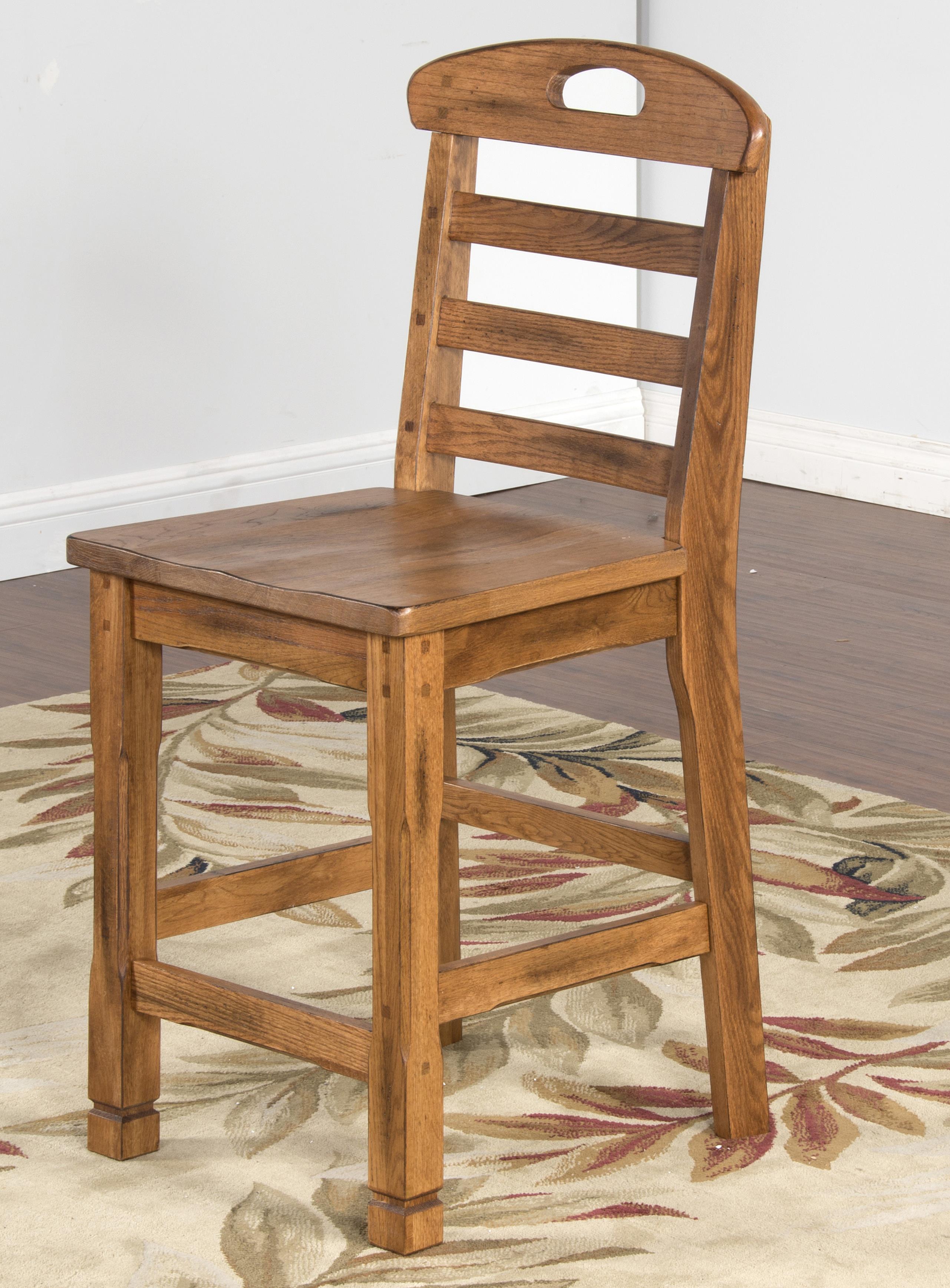 Sunny Designs Sedona Ladderback Barstool - Item Number: 1822-RO