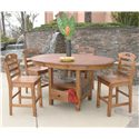 Sunny Designs Sedona Rustic Oak Ladderback Barstool - Shown as part of table set