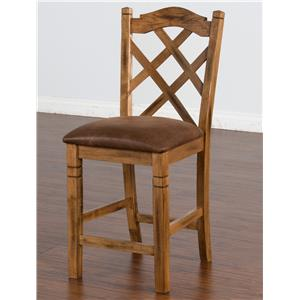 Sunny Designs Sedona Double Crossback Stool