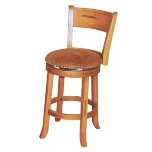 "Morris Home Furnishings From Morris Home Furnishings - 24"" Swivel Stool w/ Back"