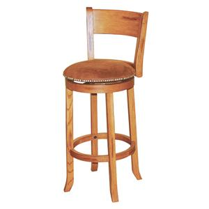 "Market Square Morris Home 30"" Swivel Stool w/ Back"