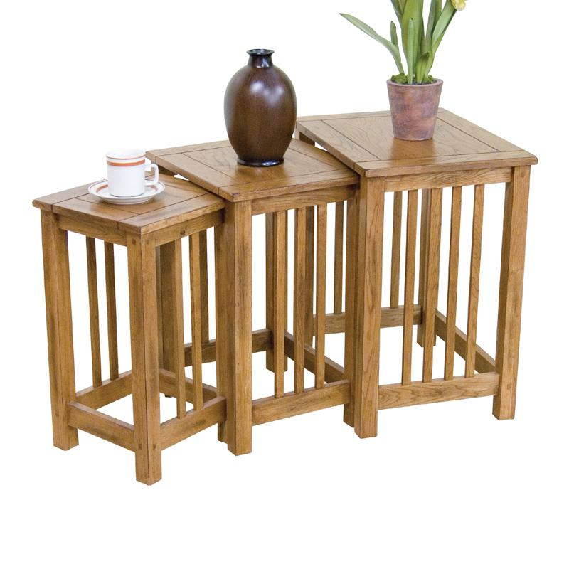 Sunny Designs Sedona RO Piece Nesting End Table Group - 3 piece nesting coffee table