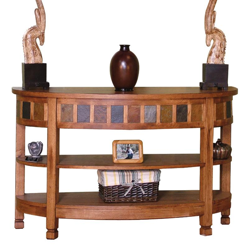 Sunny Designs Sedona Curved Entry/TV Console - Item Number: 2135RO