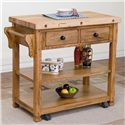 Sunny Designs Sedona Butcher Block Kitchen Island w/ Casters - Item Number: 2178RO