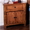 Sunny Designs Sedona Rustic Night Stand with Doors