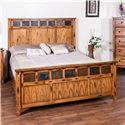 Sunny Designs Sedona King Bed with Genuine Slate - Bed Shown May Not Represent Size Indicated