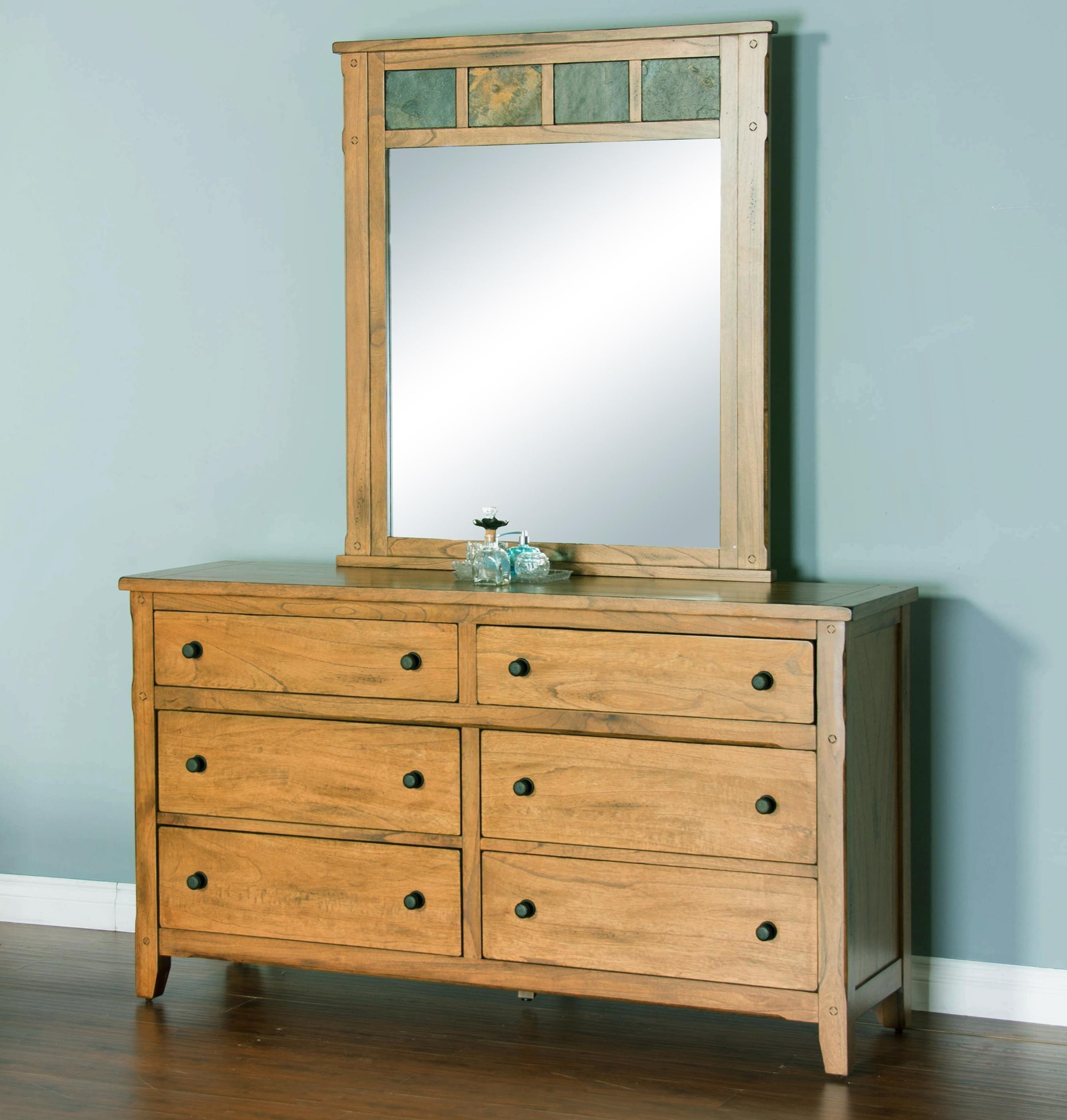 Sunny Designs Sedona Dresser & Mirror - Item Number: 2334RO-D+M