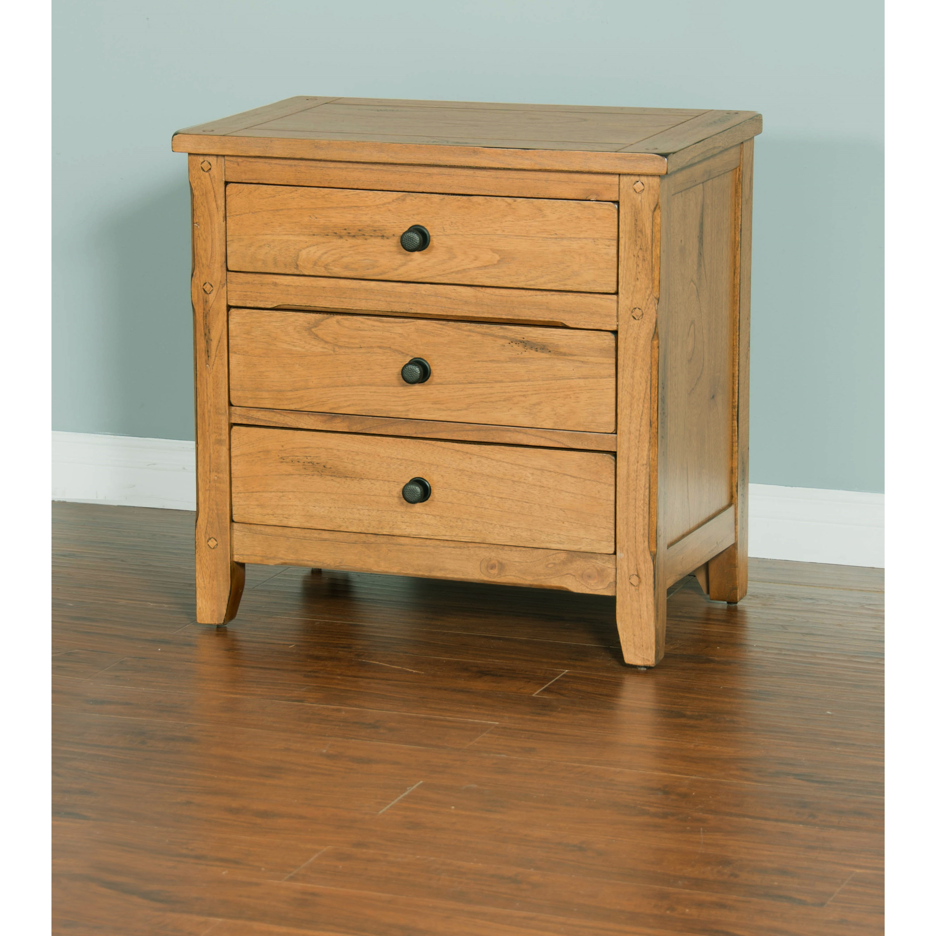 Sunny Designs Sedona Night Stand with 3 Drawers   Conlin's ...
