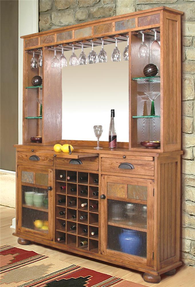 Sunny Designs Sedona Sedona Back Bar & Server - Item Number: 2413RO-S+BB