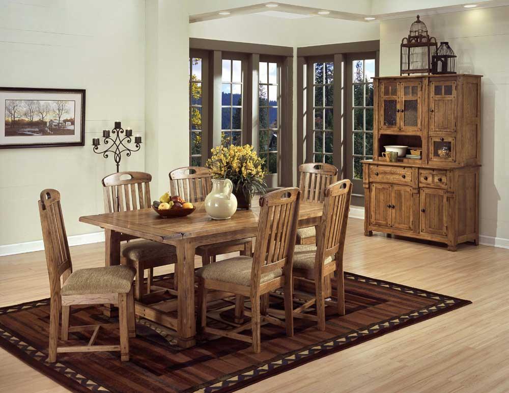 Sunny Designs Sedona Rustic Oak Hutch and Buffet | Zak's