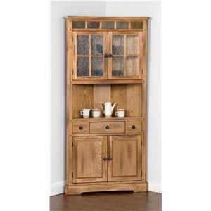 Sunny Designs Sedona Corner China Cabinet