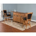 Morris Home Furnishings From Morris Home Furnishings - Stockdale 2 Piece Bar Set - Shown with Back Bar & Server