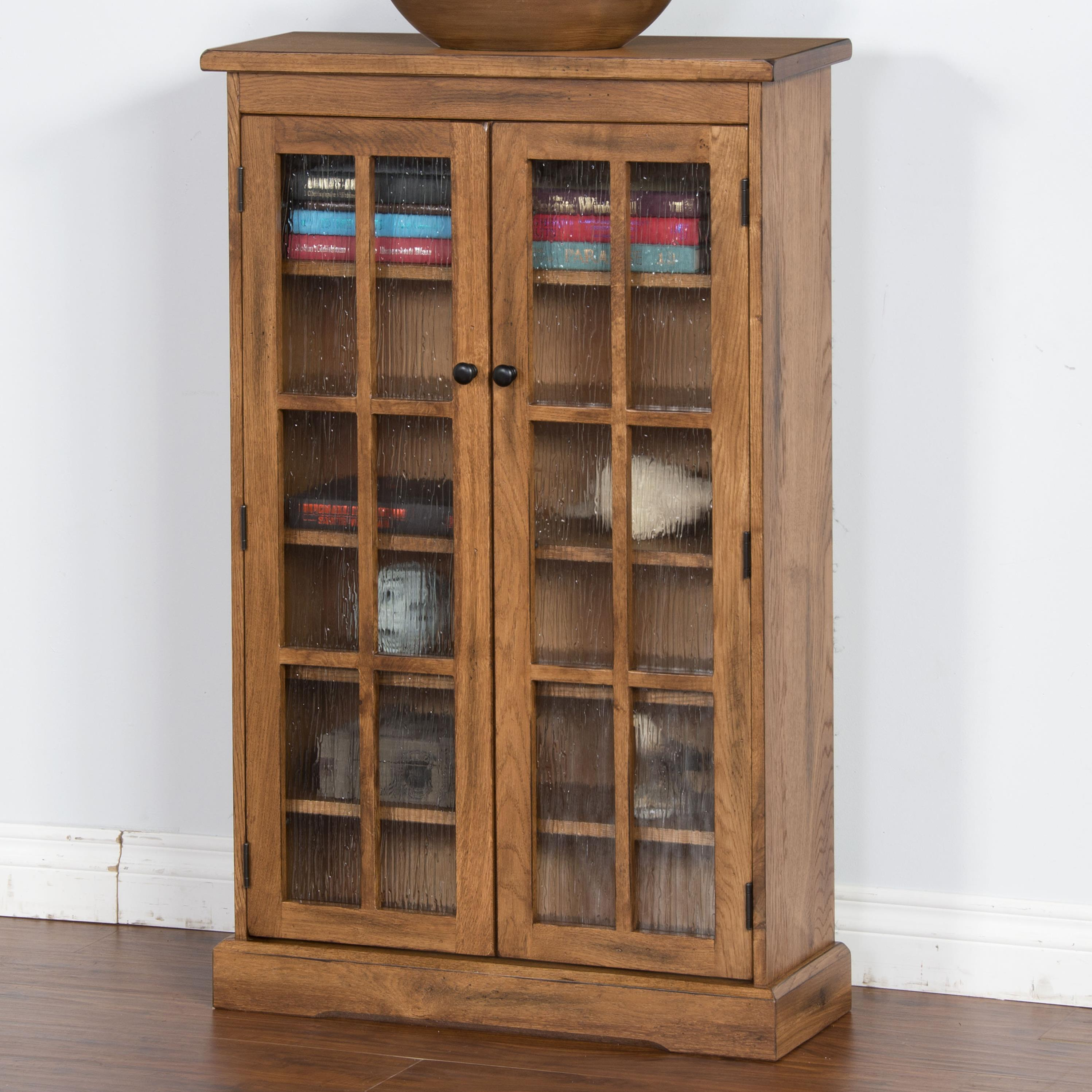cd cabinet with doors designs sedona rustic oak cd cabinet with rainfall 13291