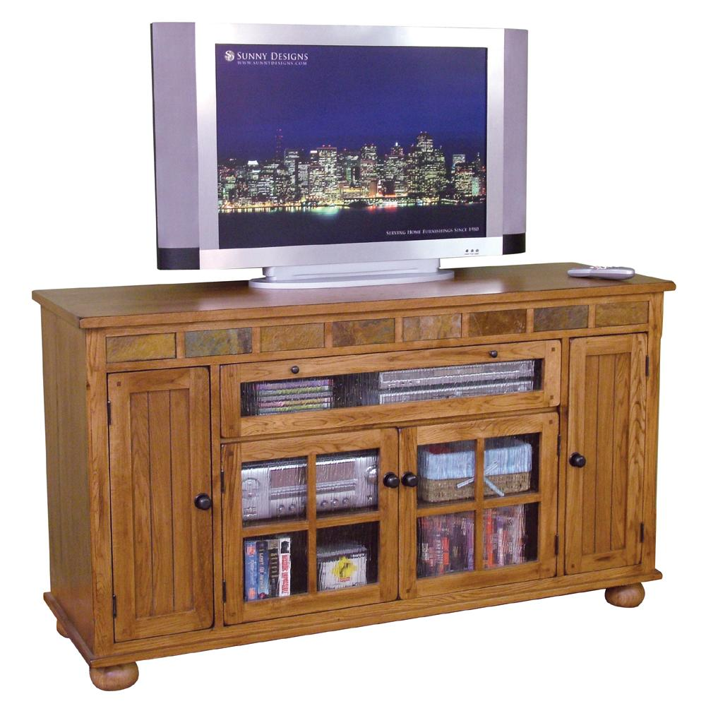 Sunny designs sedona 2728ro counter height tv console for What is console