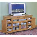 Sunny Designs Sedona Counter Height TV Console - Detail of pullout media storage