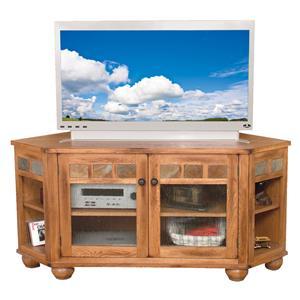 Sunny Designs Sedona Corner TV Console w/ Drop Leaf