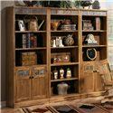 Sunny Designs Sedona Rustic Oak Door Bookcase - Shown as part of wall unit