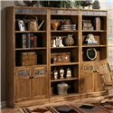 Sunny Designs Sedona Rustic Oak Open Bookcase - Shown as part of wall unit