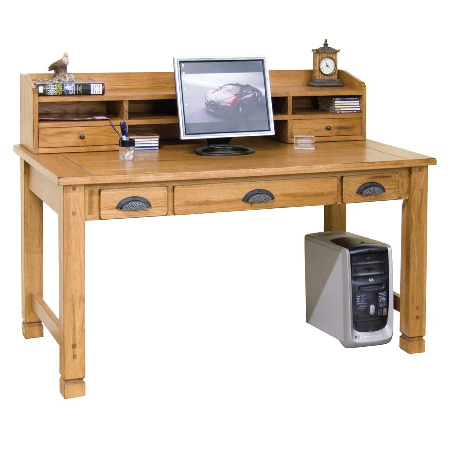 Sunny Designs Sedona Laptop Writing Desk and Hutch - Item Number: 2865RO+2865RO-H