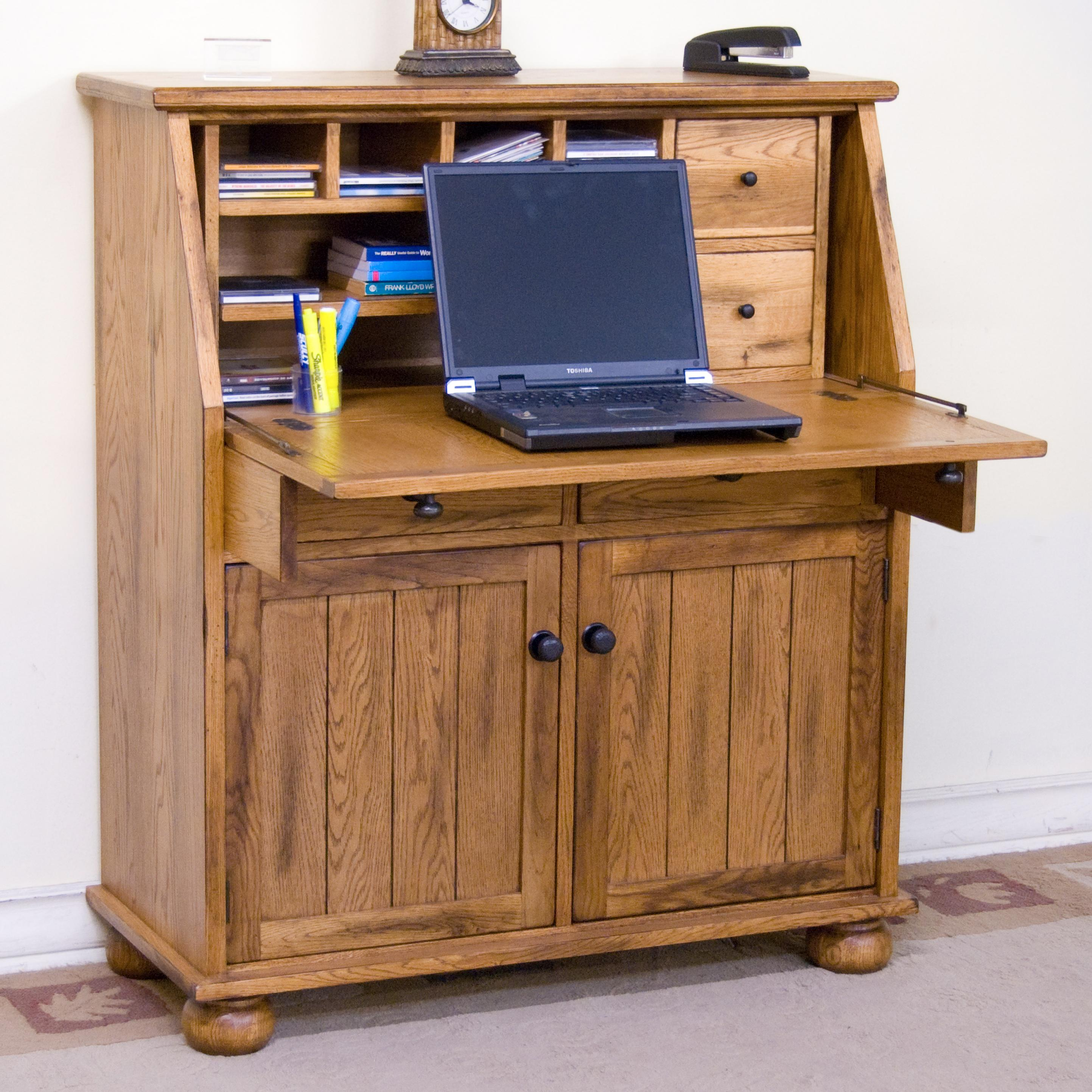 Sedona Drop Leaf Laptop Desk Armoire by Sunny Designs | Wolf Furniture