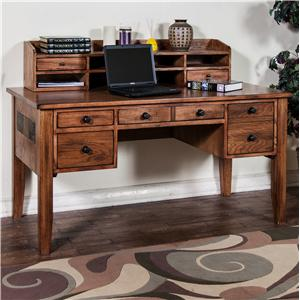 Sunny Designs Sedona Writing Desk & Hutch