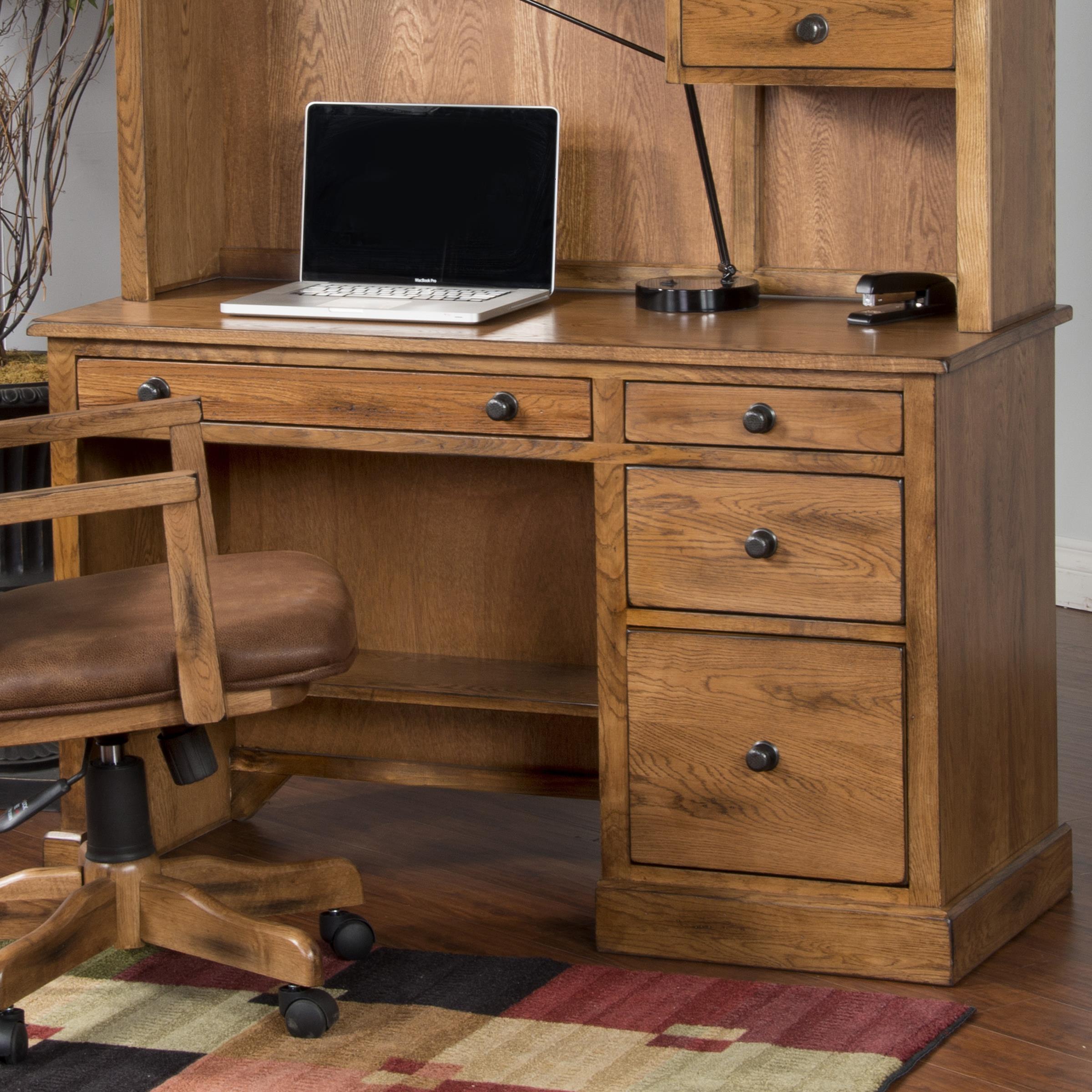 Sunny Designs Sedona Single Pedestal Desk - Item Number: 2968RO-D
