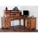 Sunny Designs Sedona L-Shape Desk - Hutch Shown Not Included