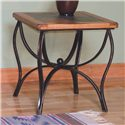 Sunny Designs Sedona End Table w/ Slate Top & Metal Base - Item Number: 3125RO-E