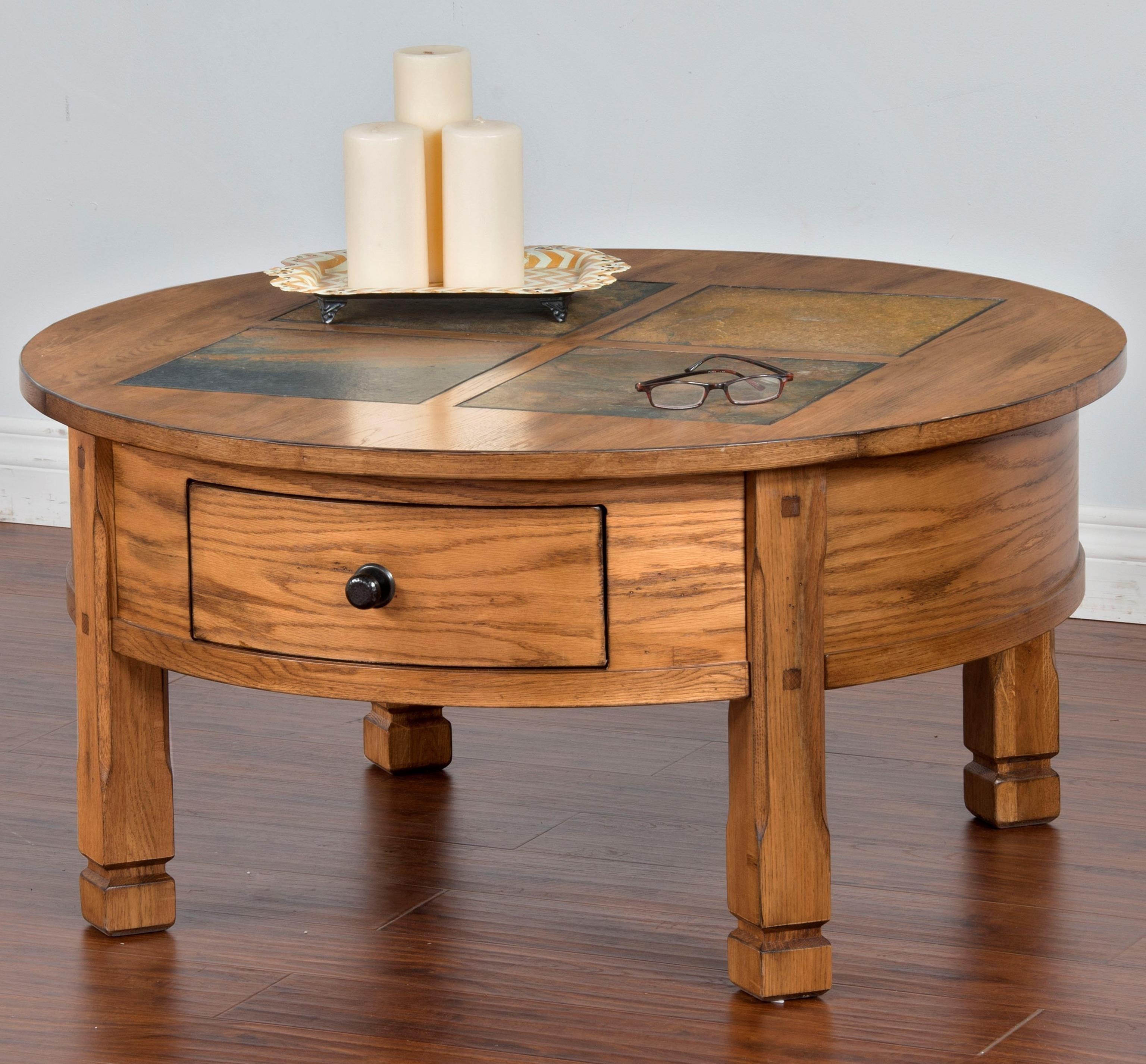 Sunny Designs Sedona Round Coffee Table - Item Number: 3143RO-CR