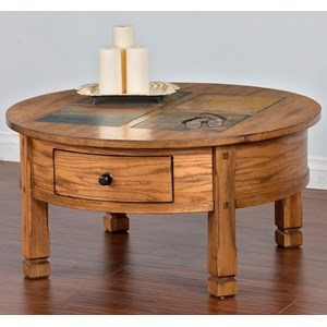 Sunny Designs Sedona Round Coffee Table