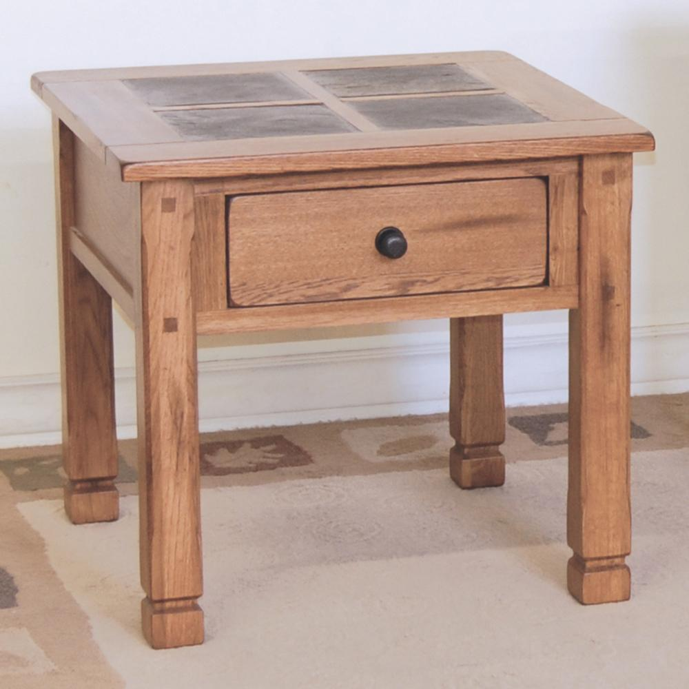 Sunny Designs Sedona End Table w/ Slate Top - Item Number: 3144RO-2