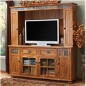 Sunny Designs Sedona Media Hutch & TV Console - Item Number: 3322RO-TC+MH