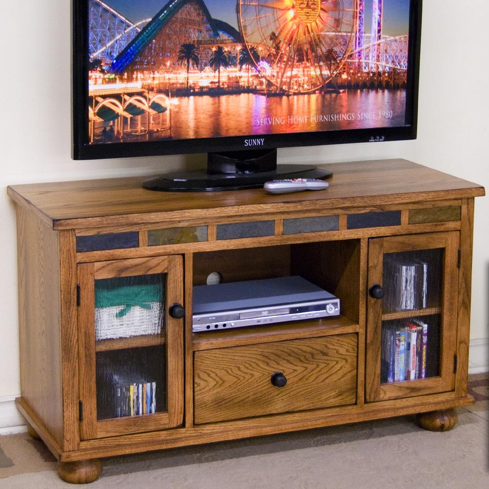 Sunny Designs Sedona TV Console w/ Game Drawer - Item Number: 3359RO-G
