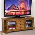 "Sunny Designs Sedona 62"" TV Console - Item Number: 3395RO-62"