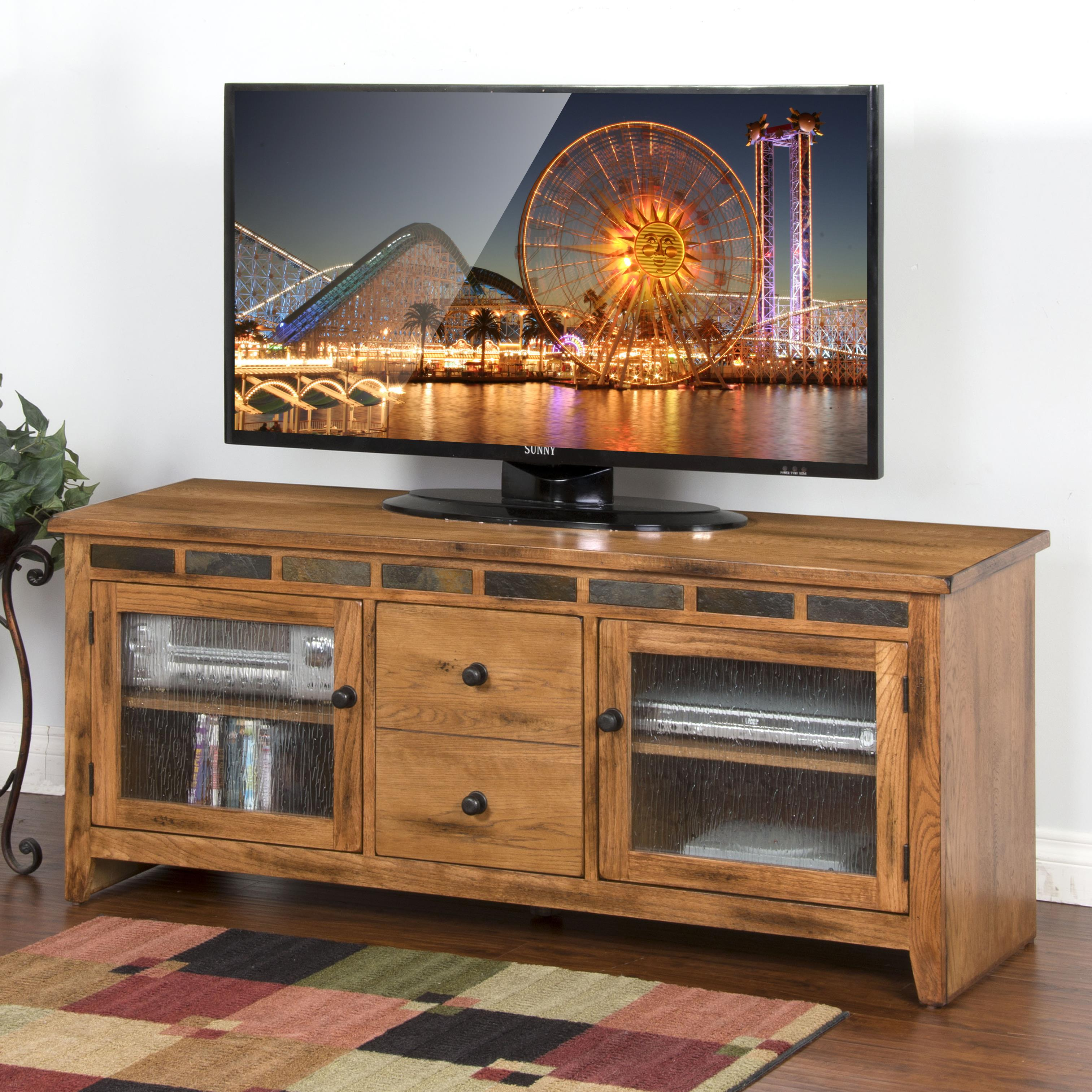 Sunny Designs Sedona 62 Quot Tv Console With Rustic Oak And