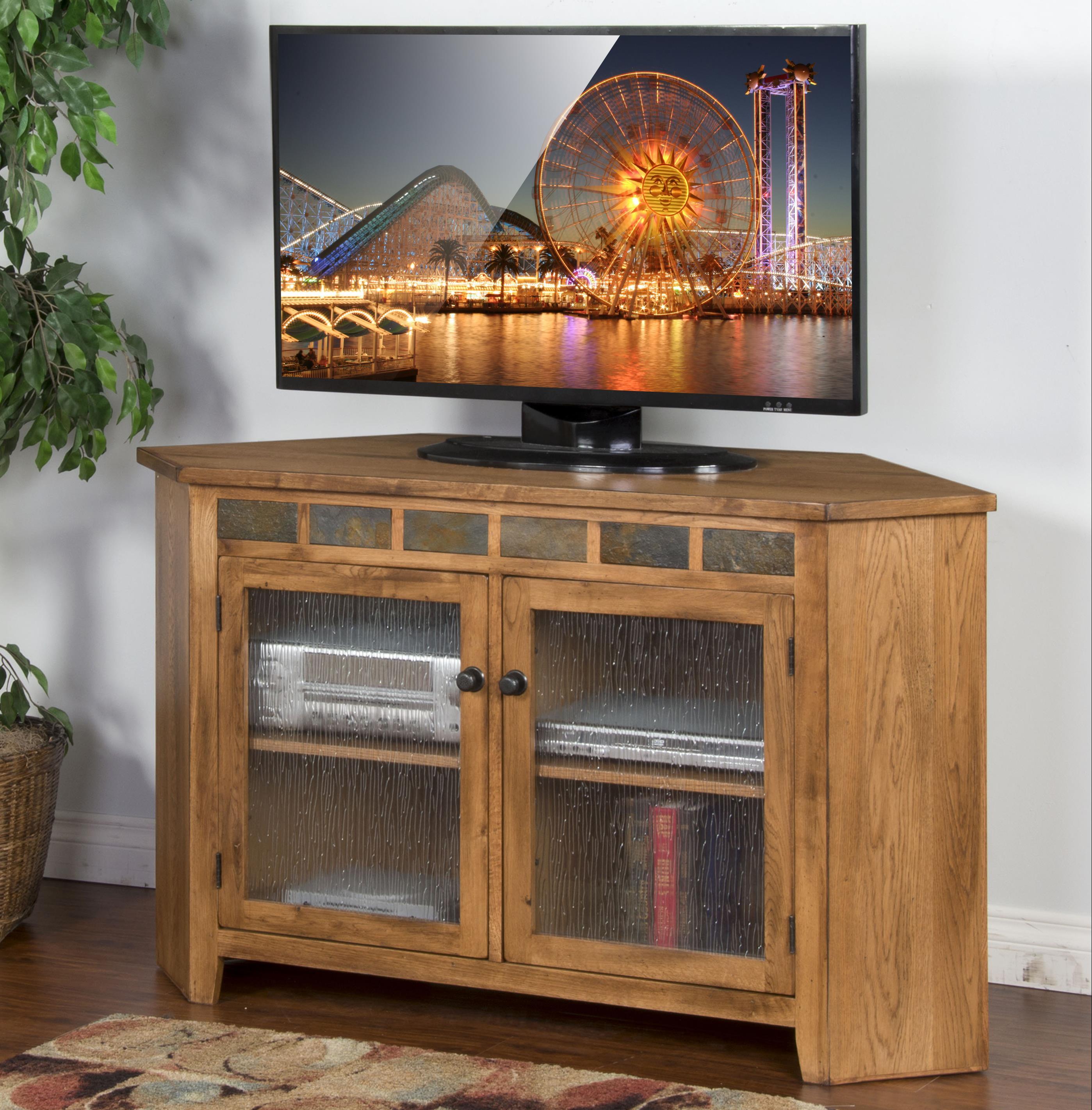 Sunny Designs Sedona Corner TV Console - Item Number: 3399RO