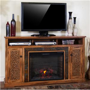 "Sunny Designs Sedona Fireplace TV Console w/ 28"" Firebox"