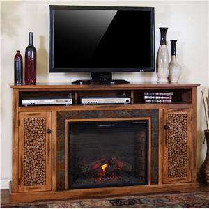 "Sunny Designs Sedona Fireplace TV Console w/ 28"" Firebox"