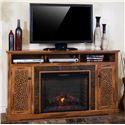 "Sunny Designs Sedona Fireplace TV Console w/ 28"" Firebox - Item Number: 3489RO-66R(set)"