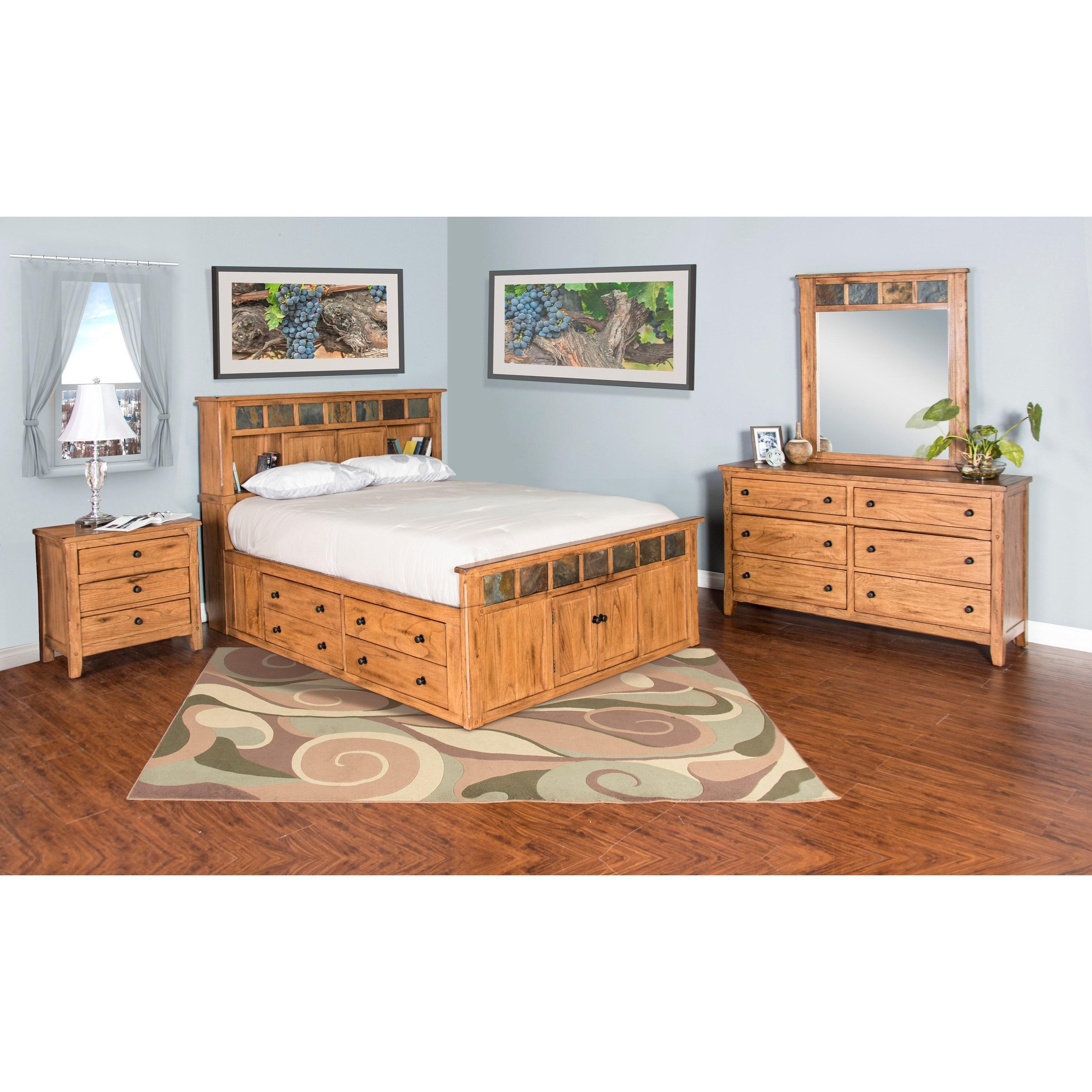 Sunny designs sedona queen bedroom group john v schultz for Bedroom ideas queen bed