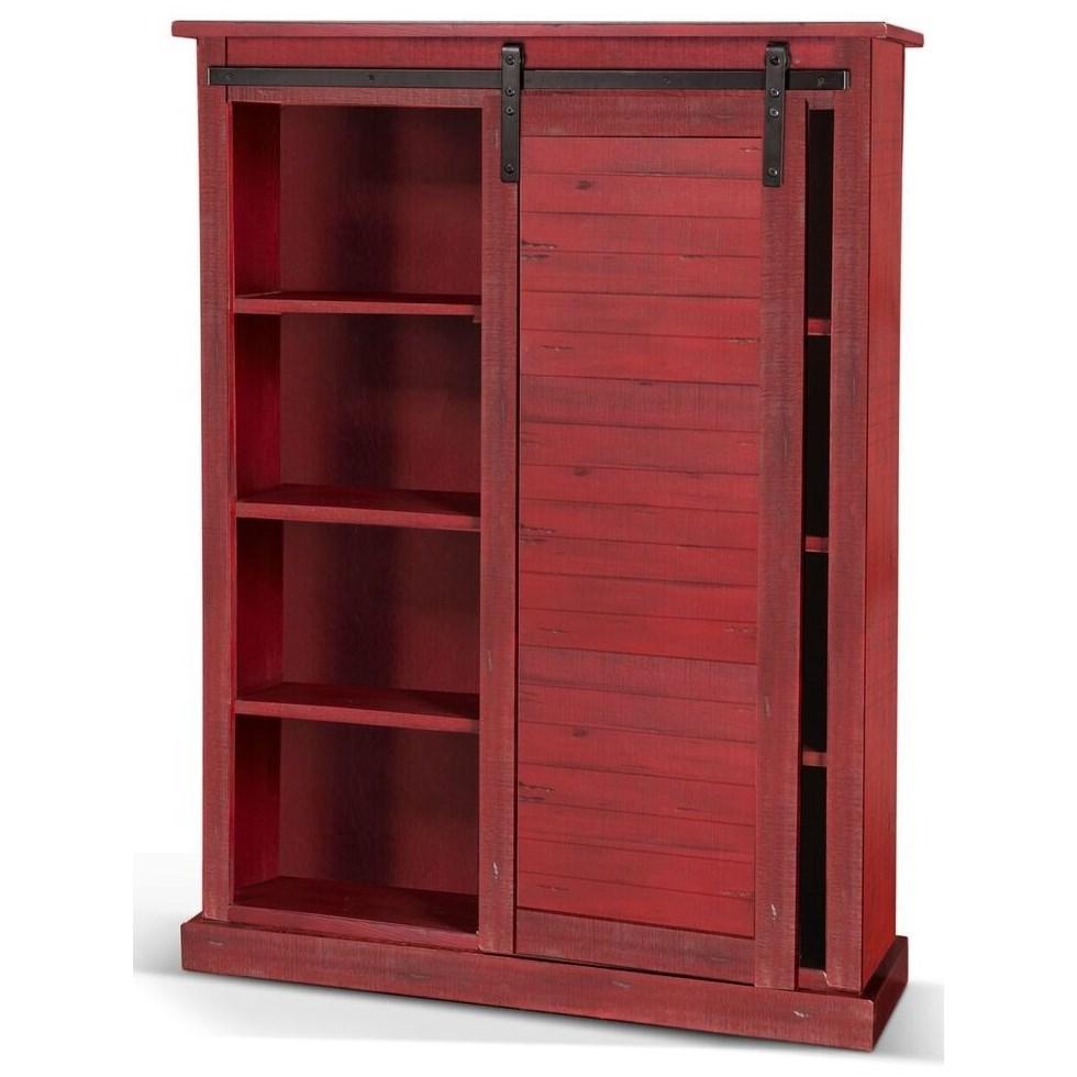Barn Door Bookcase
